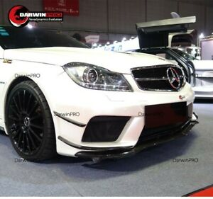 2012 2014 Mercedes Benz C63 Amg Oe Style Carbon Fiber Front Bumper Canards