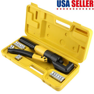 6 Ton Hydraulic Wire Battery Cable Lug Terminal Crimper Crimping Tool seal Ring
