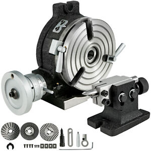 Rotary Table 6 3 Slot With Tail Stock amp Dividing Plates For Milling Machine
