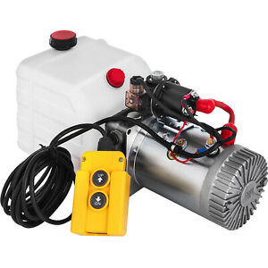 Vevor 12v Dc Single Acting Hydraulic Power Pack With 4 5l Tank Zz003468