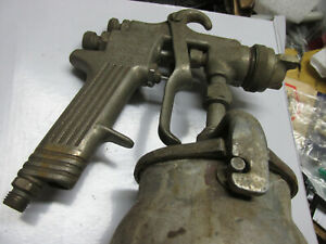 j7 Binks 62 Spray Paint Gun With Tank For Parts