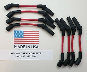 8 5mm Chevy Corvette 1997 2004 5 7l 346 350 Ls1 Ls6 Red Spark Plug Wires Usa