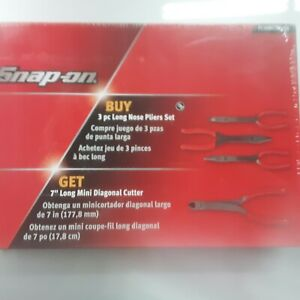 Snap On Red Long Nose Pliers Mini Long Cutters Combo Set Pl308cf808r