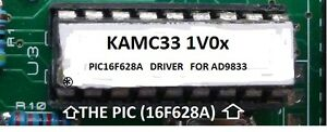 Pic16f628 Driver For The Ad9833 Dds Signal Generator Module 2lx16c Lcd Display