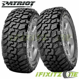2 Patriot M t 37x12 50r17lt E 10pr 131q All Season Off road Truck Mud Tires