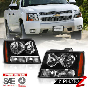 For 07 13 Chevy Avalanche 14 Tahoe Suburban 1500 2500 factory Style Headlight