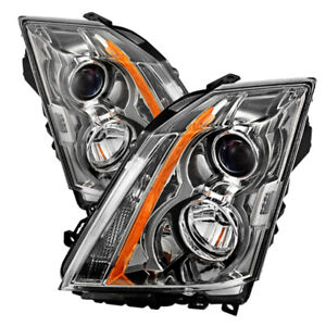 08 14 Cadillac Cts factory Style Chrome Housing Headlight Replacement Lamp L r