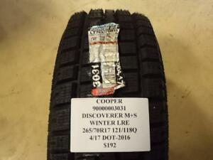 2 New Cooper Discoverer M S Winter 265 70 17 121 118q Lre Tires 90000003031 Q0