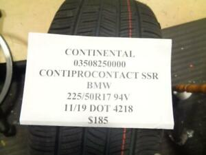 1 New Continental Conti Procontact Ssr Bmw 225 50 17 94v 03508250000 Q9