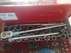 Vintage Snap On 3 4 inch Drive Socket Set 3 4 36 Pc Snapon Wright Proto