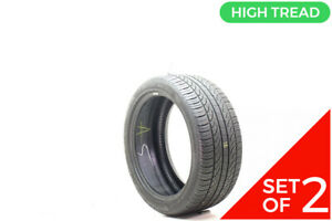 Set Of 2 Used 245 40r18 Pirelli P Zero Nero Run Flat 93v 8 32