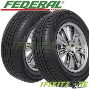2 New Federal Formoza Gio 165 50r15 73v All Season Traction Fuel efficient Tire