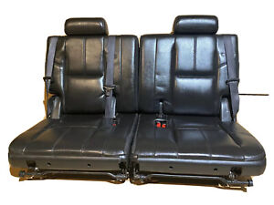 07 14 Gm Suv Lh Rh Left Right Third 3rd Row Black Leather Removable Seat Pair Oe