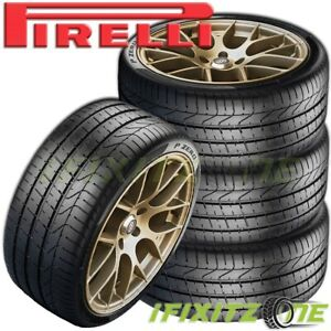 4 Pirelli P zero 245 40zr18 93y Pzero Uhp High Performance Run Flat Sport Tire