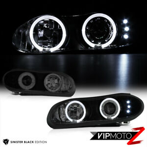 1998 2002 Chevrolet Camaro Z28 Ss Sinister Black Halo Led Projector Headlights