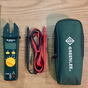 Greenlee Csj 100 Open Jaw Clamp Meter W case Leads