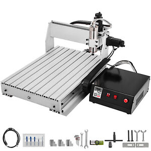 3 Axis Cnc Router Kit 6040 2400rpm Engraving Milling Machine 1000w Wood plastic
