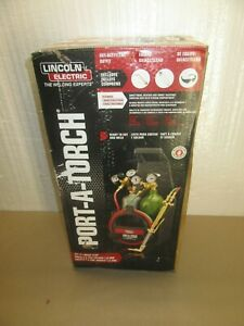 Lincoln Electric Port a torch Kit W oxygen Acetylene Tanks 3 16 X 12 Ft Hose