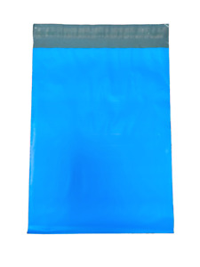 500 10x13 Blue Color Designer Poly Mailers Self Sealing Plastic Shipping Bags