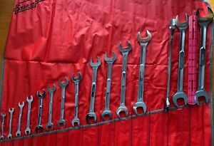 Nos Snap On Tools 15 Pc Standard Open End Wrench Set W Case 1 4 1 1 4
