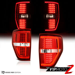 2009 2014 Ford F 150 Oled Tube Red Led Tail Brake Stop Turn Signal Lights Pair