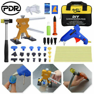 47 Paintless Dent Repair Pdr Tools Lifter Glue Kit Tap Down Hammer Hail Removal