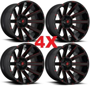 24x12 Black Wheels Rims Ram Ram 2500 3500 Grid Fuel Xd 8x165 1