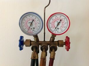 Robinair Test Charging Manifold Gauge Set R 12 R 22 R 502 Used