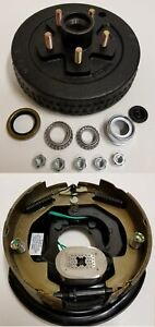 Electric Trailer Brake 10 In Rh Backing Plate Hub Drum Kit 5 Lug On 4 75