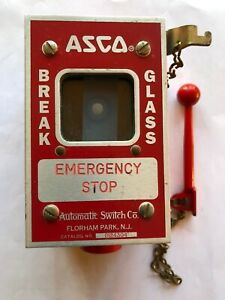 Asco Emergency Stop Switch With 3 4 Threaded Hub Mounting Box
