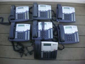 Lot Of 7 Mitel 8520 4 Line Business Phones Preowned