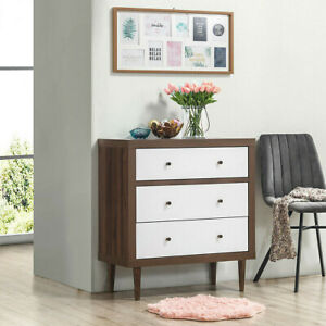 3 Drawer Dresser Wooden Chest Storage Freestanding Cabinet Bedroom Furniture New