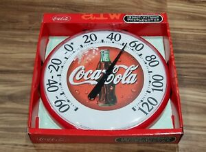 New Vintage Coca Cola Jumbo Dial Indoor Outdoor RV Bar Mancave Wall Thermometer