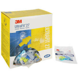 3m Flanged Ear Plugs With 27db Noise Reduction Rating 340 8002 pack Of 100