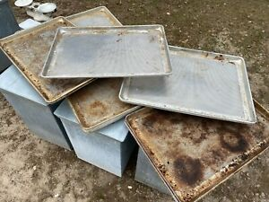 Lot Of 15 Heavy Duty Commercial Aluminum Full Size Perforated Baking Sheet Pans