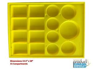 T 0170 Y Yellow Plastic Parts Tray For Valve And Body Parts 13 5x18 15sections