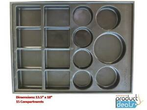 T 0170 B Black Plastic Parts Tray For Valve And Body Parts 13 5x18 15sections