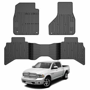 All Weather Floor Mats Liners Tpe For 2019 2020 Dodge Ram 1500 Quad Cab