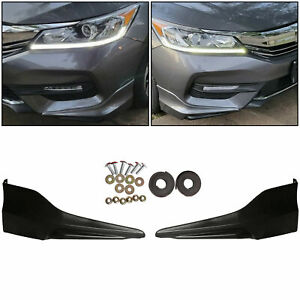 Front Bumper Lip Splitter Fits 16 17 Honda Accord Hfp Style