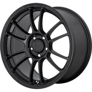 Motegi Mr146 Ss6 Rim 17x8 5 5x112 00 Offset 42 Satin Black quantity Of 4