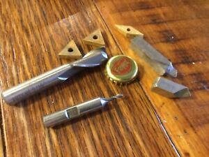 Machine Shop Machinist Grab Lot Of Tools End Mills Inserts And Lathe Bits Logan