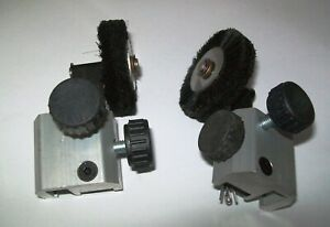 New Komori Feed board Black Brush Wheel Complete 1 Pair