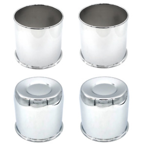 Set Of 4 Topline 2 Open 2 Closed End Push Thru Wheel Center Hub Cap Chrome 4 25