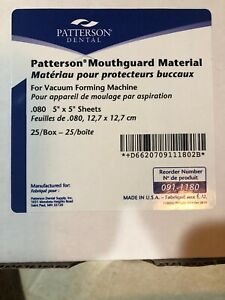 Patterson Dental 080 Mouthguard Material 5 X 5 Box Of 25