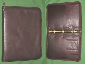 Classic 1 0 Brown Leather Franklin Quest Covey Planner 3 Ring Binder 4478