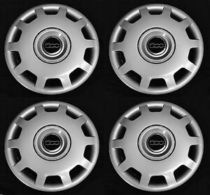 Set 4pcs Wheel Covers Fits 500 2010 2016 Pop Abarth 15 Hubcap Rim New