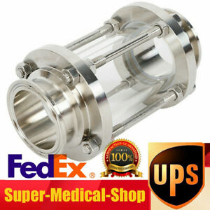 2 Flow Sanitary Sight Glass Stainless Steel 304 Tri Clamp