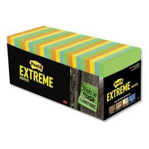Post it Extreme Notes Water resistant Self stick Notes Multi co 638060081341
