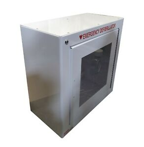 Zoll 8000 0855 Aed Plus Enclosure Wall Mounted Metal Cabinet Surface White