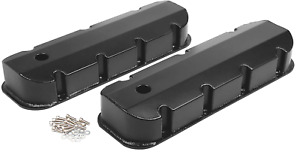 Bbc Black Fabricated Aluminum Tall Valve Covers Chevy